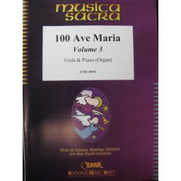 100 Ave Maria Vol 3 Alto Piano Orgue