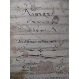 Recueil d'Airs et d'Ariettes Harpe Chant 1783