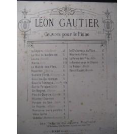GAUTIER Léon Un Regret Piano ca1860