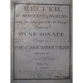 HOCHBRUCKER Chrétien Recueil Harpe Chant 1792