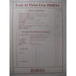 ZIGHÉRA Léon 9 Etudes n° 2 Violon 1934