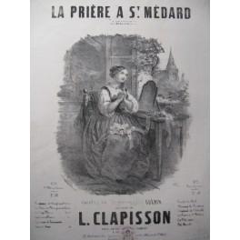 CLAPISSON L. La Prière à St Médard Chant Piano ca1860