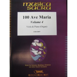 100 Ave Maria Vol 4 Alto Piano Orgue