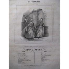 PUGET Loïsa La Retraite Chant Piano 1839
