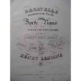 LEMOINE Henry Bagatelle Piano ca1825