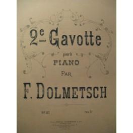 DOLMETSCH F. 2e Gavotte Piano 1879
