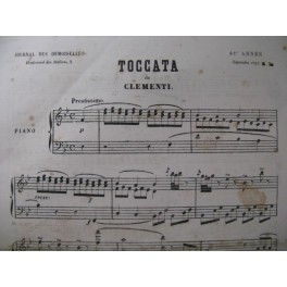 CLÉMENTI M. Toccata Piano 1873