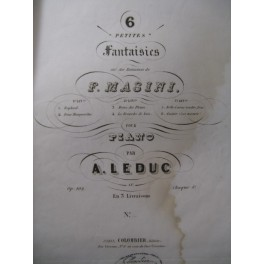 LEDUC A. 2 Fantaisies Masini Piano 1843