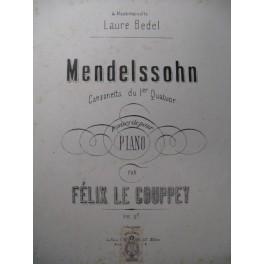 MENDELSSOHN Canzonetta 1er Quatuor Piano 1874