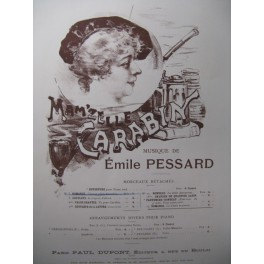 PESSARD Emile Mam'zelle Carabin Chant Piano