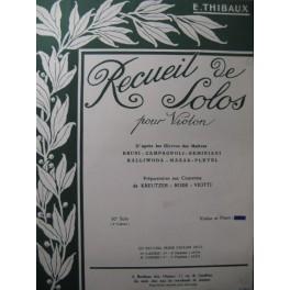 PLEYEL Ignace 10e Solo E. Thibaux Violon Piano