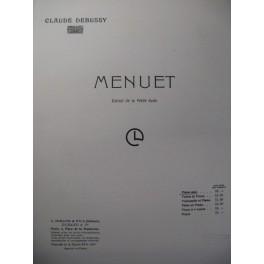 DEBUSSY Claude Menuet Piano 1906
