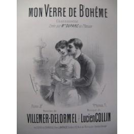 COLLIN Lucien Mon Verre de Bohême Chant Piano XIXe