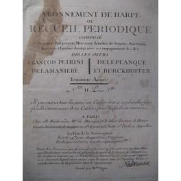 PETRINI François Recueil de Harpe ca1790