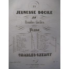 CZERNY Charles Nora Crena Piano ca1850