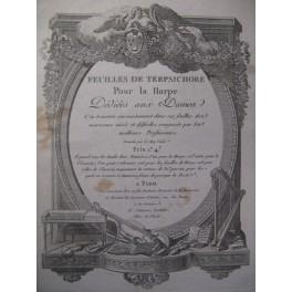 Feuilles de Terpsichore 1ère année n° 1 Harpe 1784