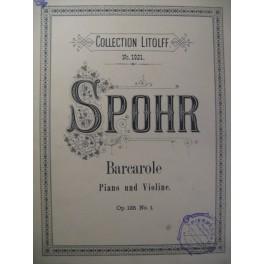SPOHR Louis Barcarole op. 135 n° 1 Violon Piano
