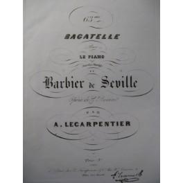 LE CARPENTIER A. 63e Bagatelle Piano 1847