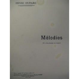DUPARC Henri Mélodies Chant Piano 1911