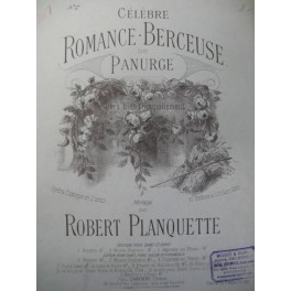 PLANQUETTE Robert Panurge Piano 1895