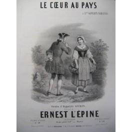L'ÉPINE Ernest Le Cœur au Pays Chant Piano ca1850
