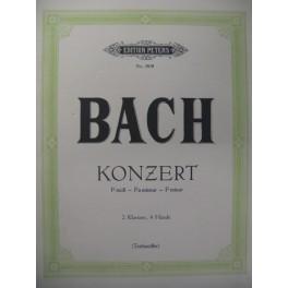 BACH J. S. Konzert f moll Piano 4 mains