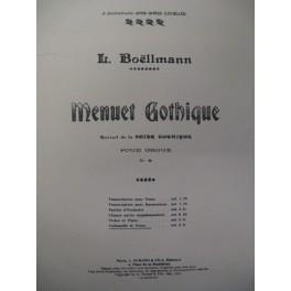 BOËLLMANN Léon Menuet Gothique Violoncelle Piano 1909