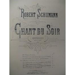 SCHUMANN Robert Chant du Soir Flute Violon Piano 1927