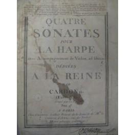 CARDON Jean-Baptiste 4 Sonates op7 Harpe 1780