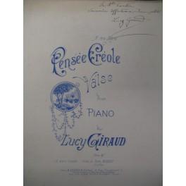 GIRAUD Lucy Pensée Créole Chant Piano XIXe