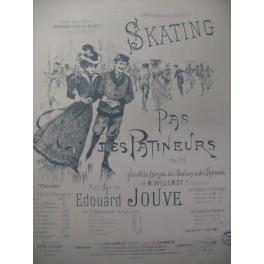 JOUVE Edouard Pas des Patineurs Danse Piano 1897