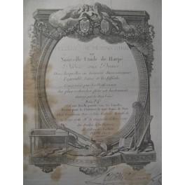 Feuilles de Terpsichore n° 24 Harpe Chant 1786