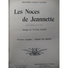 MASSÉ Victor Les Noces de Jeannette Opéra Chant Piano XIXe