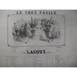 LACOUT Ainé Le Très facile Quadrille Piano ca1850