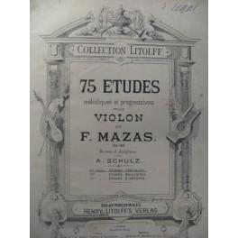 MAZAS F. Etudes Spéciales op.36 Violon