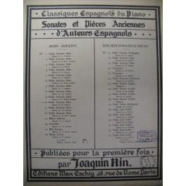SOLER Padre Antonio Sonate en Fa Piano 1930