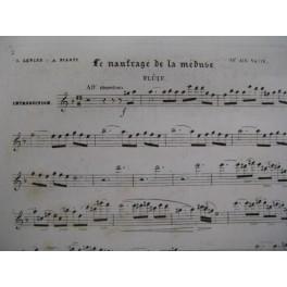 LEPLUS & PILATI Le Naufrage de la Méduse Flute XIXe
