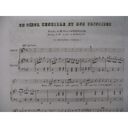 DE BEAUPLAN Amédée Un Coeur sensible Piano Chant 1834