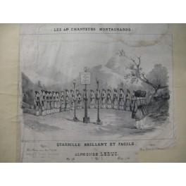 LEDUC Alphonse Les 40 Chanteurs Montagnards Piano Flute Violon ca1860
