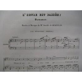 DE BEAUPLAN Amédée L'Heure est passée Chant Piano 1834