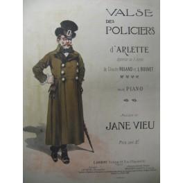 VIEU Jane valse des Policiers Piano 1905