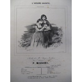 MASINI F. L'Heure Sainte Chant Piano ca1840