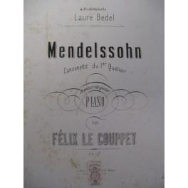 MENDELSSOHN Canzonetta Piano 1874