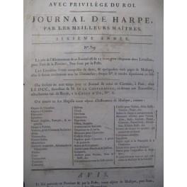 COUARDE Romance Chant Harpe 1786
