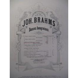 BRAHMS Johannes Danses Hongroises I Violon Piano 1883