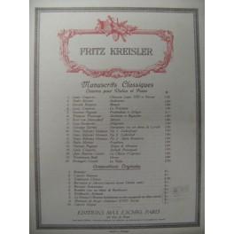 COUPERIN Louis La Précieuse Violon Piano 1910