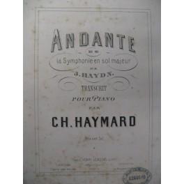 HAYDN Joseph Andante Symphonie en Sol Piano XIXe