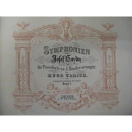 HAYDN Joseph Symphonien Piano 4 mains