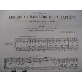 QUANTIN A. D. Les Deux Chasseurs Piano 1867