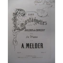 MELDER A. Les Castagnettes Piano XIXe